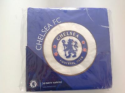 20 amscan Chelsea fc party napkins