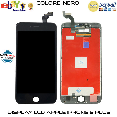 Schermo Display Ricambio IPHONE 6 PLUS 6 + NERO RETINA LCD 5,5 POLLICI COMPLETO