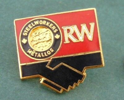 Steelworkers Metallos RW Trade Union US Canada Pin Lapel