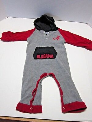 Alabama Crimson Tide Infant Romper Outfit 6-12 months Colosseum Thermal Hooded