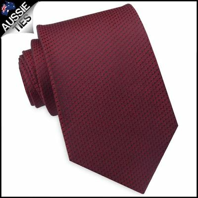 Burgundy Red Woven Texture Mens Tie Men's Necktie