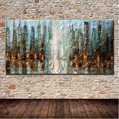 YA702 Large Modern Hand-painted Scenery oil painting Abstract City on canvas