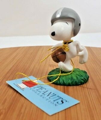 "Westland Peanut Snoopy Football figurine #8240 No Original Box  2""T"