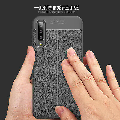 Luxury Leather Litchi Pattern Phone Case Cover For Samsung Galaxy A7 2018 A750