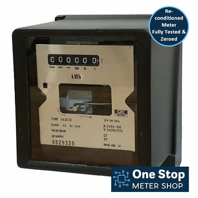 GEC Three Phase 100A Disc Style Electric Meter - Reconditioned & Fully Tested