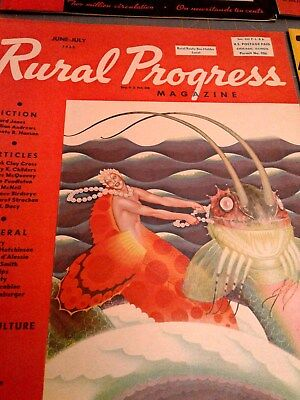 6 Vintage Rural Progress Magazine April 1937 Great Depression Era