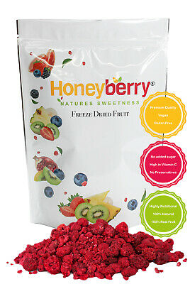 Freeze Dried Whole & Broken Raspberries 1kg FREE Delivery