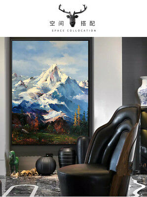 YA1015 Modern Hand-painted Scenery oil painting on canvas Snow Mountain