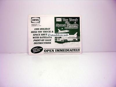 Rare Original Hess 1999 Toy Truck Point Of Sale Managers Booklet!