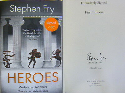 Signed Book Heroes by Stephen Fry Hardback 1st Edition 2018