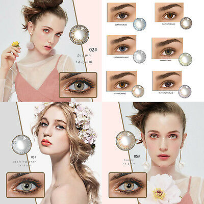 Natural Plain Glass Contact Lenses Eyewear Party Eye Beauty Makeup Cosmetic Tool