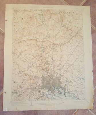 TOPOGRAPHY MAP - STATE OF MARYLAND-VIRGINIA / Baltimore Quadrangle 1907.