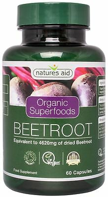 Natures Aid Organic Beetroot 4620mg 60 Vcaps