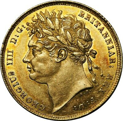 1821,George IV, Gold Sovereign. Practically as Struck. Spink UNC. £3500.00