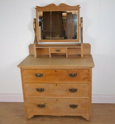 Victorian Pine Dressing Table/Chest