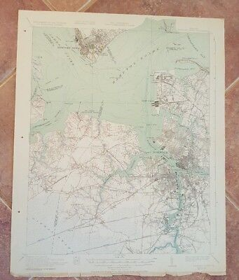 TOPOGRAPHY MAP - STATE OF VIRGINIA, - Newport News Quadrangle 1932