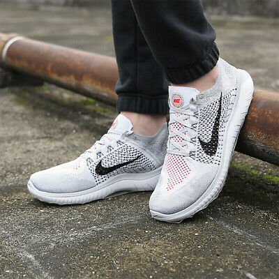 size 40 988a2 7141a Nike Free RN Flyknit 2018 Mens Pure Platinum Running 942838-003 DOUBLE BOXED