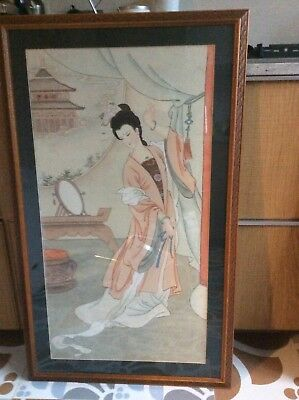 Attractive Chinese Silk Paintings - Set of Four
