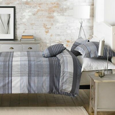 Checkered Duvet Covers & Pillowcases By Great Knot Poly Cotton Malvern Double