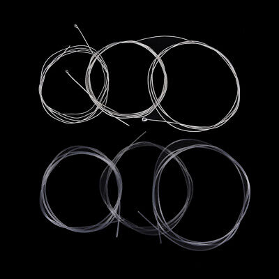 6 Pcs Guitar Strings Nylon Silver Plating Set Super Light for Acoustic Guitar FB
