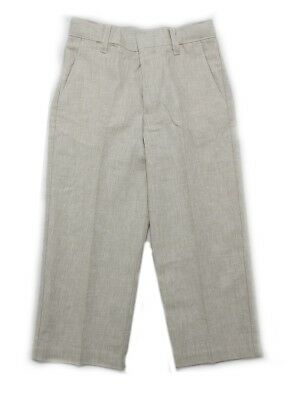 Kenneth Cole Reaction Baby Boys Size 3T (Toddler) Linen Dress Pant, Beige