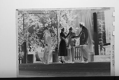 (6) B&W Press Photo Negative Playhouse Theater Stage Costumes Actors - T4447