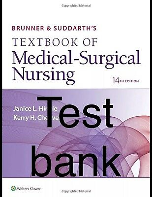BRUNNER SUDDARTH S Textbook Of Medical Surgical Nursing 14th Pdf Test Bank