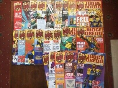 Judge Dredd Lawman Of The Future 1-22 & Special & Free Gifts  In Ex Cond 2000Ad