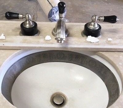 Phylrich Widespread Low Spout Lavatory Faucet & Sherle Wagner Sink