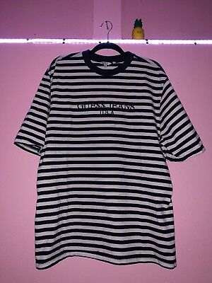 3887081b2e1 Guess Striped Asap Rocky T Shirt Mens Xl Navy Gue Embroidered A Ap