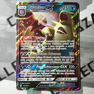 Carta Pokemon 121/214 TYRANITAR GX [Sole Luna Tuoni perduti] ITALIAN NO Full Art