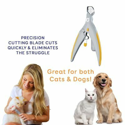Pet Nail Trimmer With LED Light Care Nail Clippers Grinders For Cat Dog