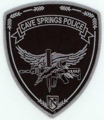 Cave Springs Arkansas Ar Police Swat Subdued Patch Sheriff