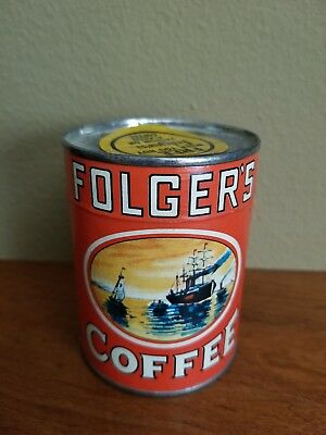 Advertising FOLGER'S COFFEE PUZZLE in Can Vintage Authentic - Unopened