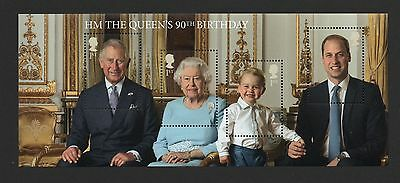 Gb 2016 Queens 90Th Birthday Miniature Stamp Sheet No Barcode