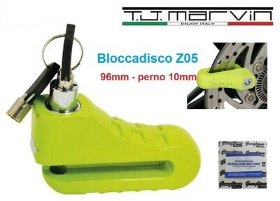 Z05 Bloccadisco in lega TJ-Marvin 96 mm con perno 10mm IN LEGA per Moto Scooter