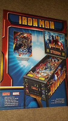 Original Stern Iron Man Pinball Advertising flyer.