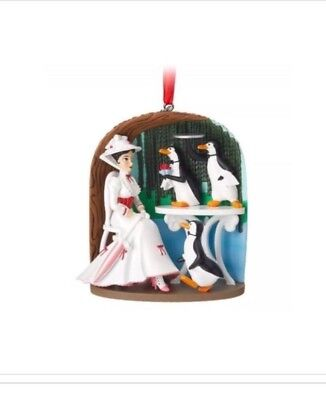 MARY POPPINS JOLLY HOLIDAY Disney Store Sketchbook Ornament ~2018