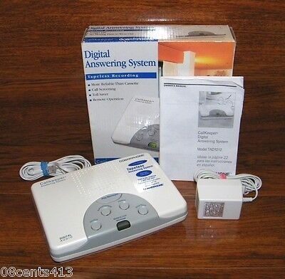 Conair White Digital Answering System Tapeless Recording & Call Screening In Box