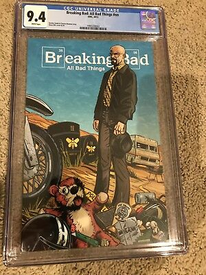 2013 Amc Breaking Bad Promo Comic Cgc 9.4 Nm Extremely Rare Only 500 Made White