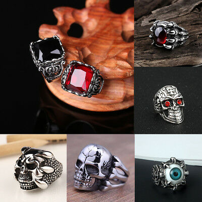 Men's Stainless Steel Chinese Dragon  Ring Gothic Unique Animal Style Knight