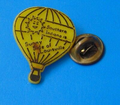 Vintage Southern Indiana is Sunny Side of Louisville Hot Air Balloon Pin Lapel