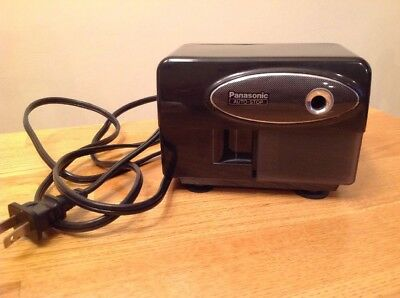 Vtg Panasonic Auto Stop Electric Pencil Sharpener Model KP-310 Works Great Black