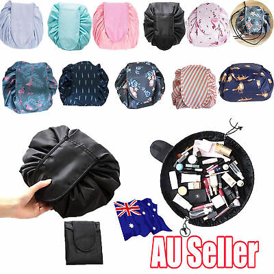 Toiletry Bag Lazy Makeup Bag Quick Pack Travel Bag Drawstring Storage AU STOCK G