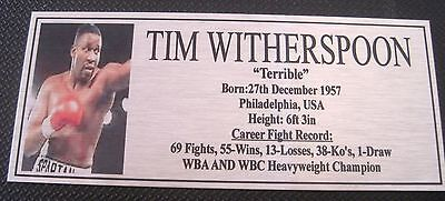 """TIM WITHERSPOON Boxing Champions Gold  Subimated Plaque """"FREE POSTAGE"""""""