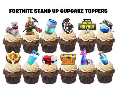 24 FORTNITE STAND UP Birthday Edible Cupcakes Cup Cakes Cake Toppers Images set1