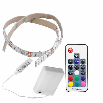 Waterproof Multi-color 5050 LED Strip Lights RGB + Battery Box + Remote Control