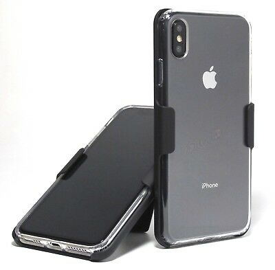 Apple iPhone XS Max AIR CUSHION CLEAR HYBRID CASE with BELT CLIP HOLSTER
