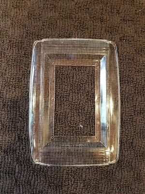 Vintage General Electric Single Switch Plate Cover Protector Clear Plastic