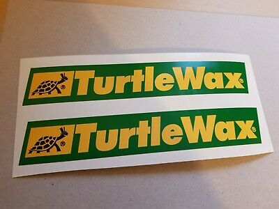 2 X Vintage Turtle Wax Stickers Signs